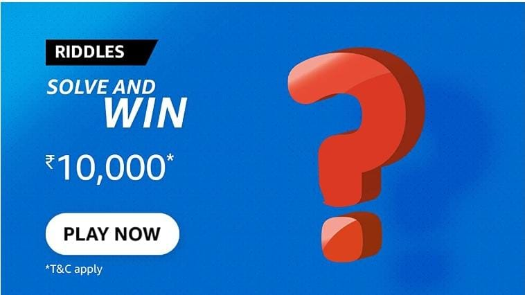 Amazon Riddles Solve and Win Quiz answers