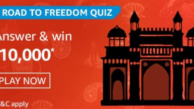 Photo of Amazon Road To Freedom Quiz Answers: Play And Win 10,000 Rs (10 Prizes)