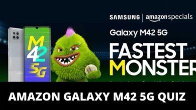 Amazon Samsung M42 5G Quiz Answers