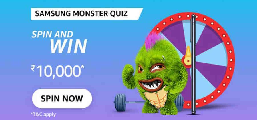 Amazon Samsung Monster Quiz Answers Win 10000