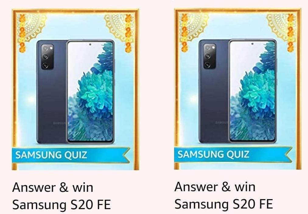 Amazon Samsung S20 FE Quiz Answers