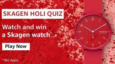 Amazon Skagen Holi Quiz Answers
