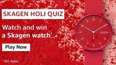 Amazon Skagen Holi Quiz Answers