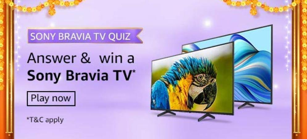 Amazon Sony Bravia Quiz Answers