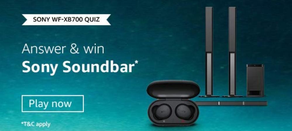 Amazon Sony WF-XB700 Quiz Answers
