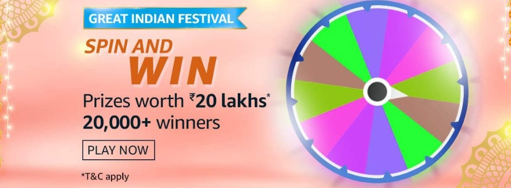 Amazon Spin And Win Great Indian Festival Edition