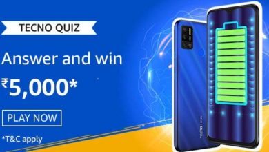 Photo of Amazon Tecno Quiz Answers: Play And Win 5,000 Pay Balance (20 Prizes)