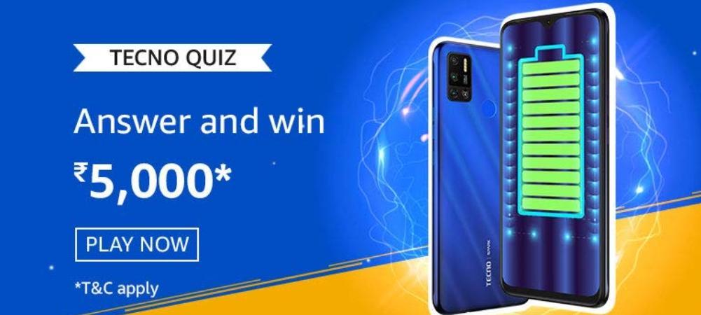 Amazon Tecno Quiz Answers