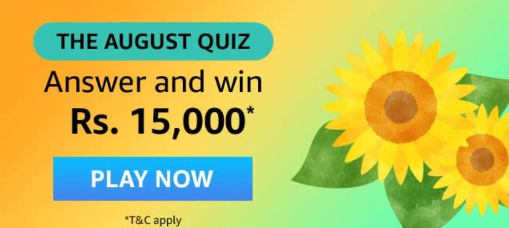Amazon The August Quiz Answers