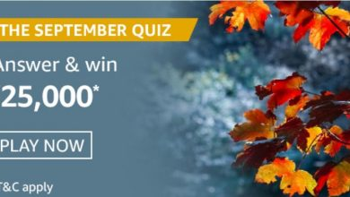 Amazon The September Quiz Answers