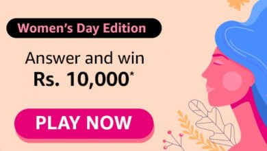 Amazon Women's Day Edition Quiz Answers