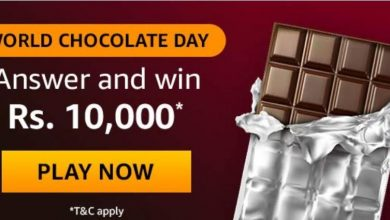 Photo of Amazon World Chocolate Day Quiz Answers : Play And Win 10,000 Rs Pay Balance