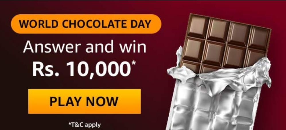Amazon World Chocolate Day Quiz
