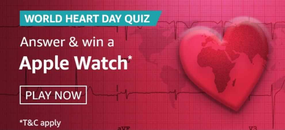 Amazon World Heart Day Quiz Answer