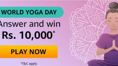 Amazon World Yoga Day Quiz Answers