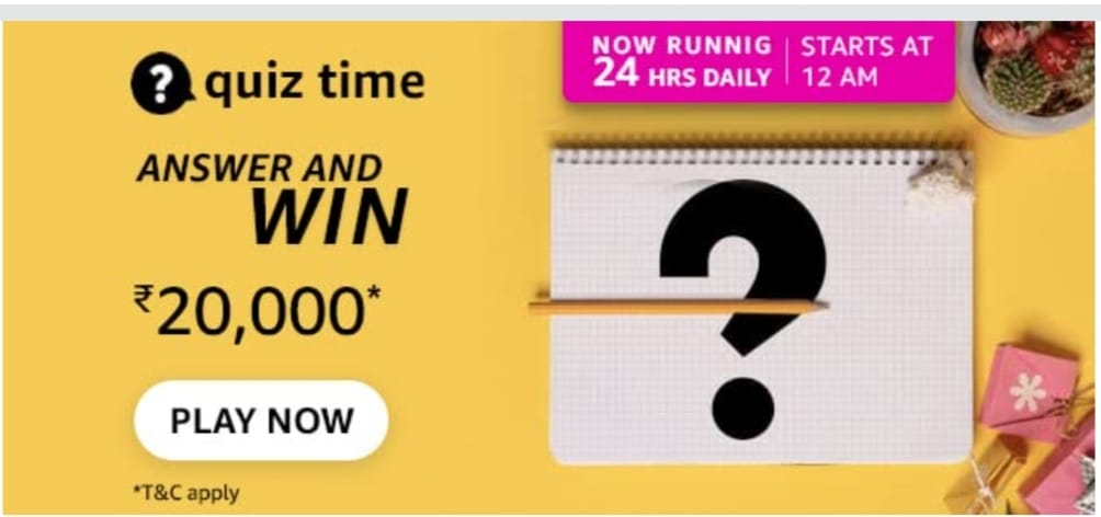Amazon App Daily Quiz Answers 28th August 2021