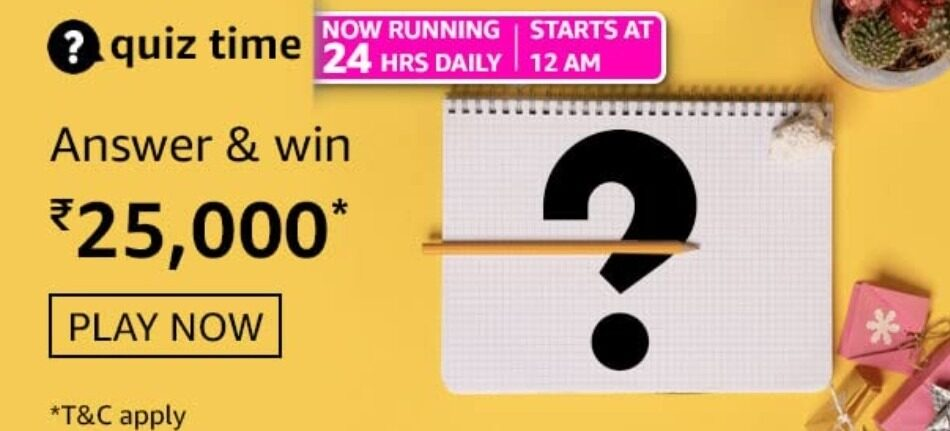 Amazon daily quiz answers 3rd august