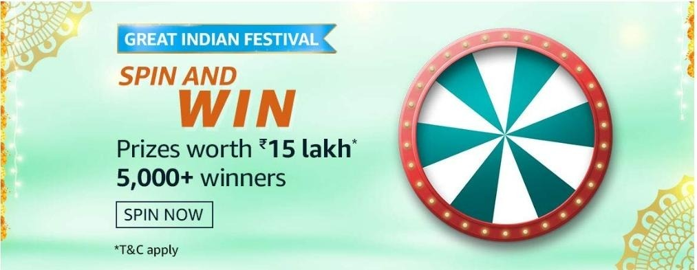 Great Indian Festival Spin & Win Quiz Answers
