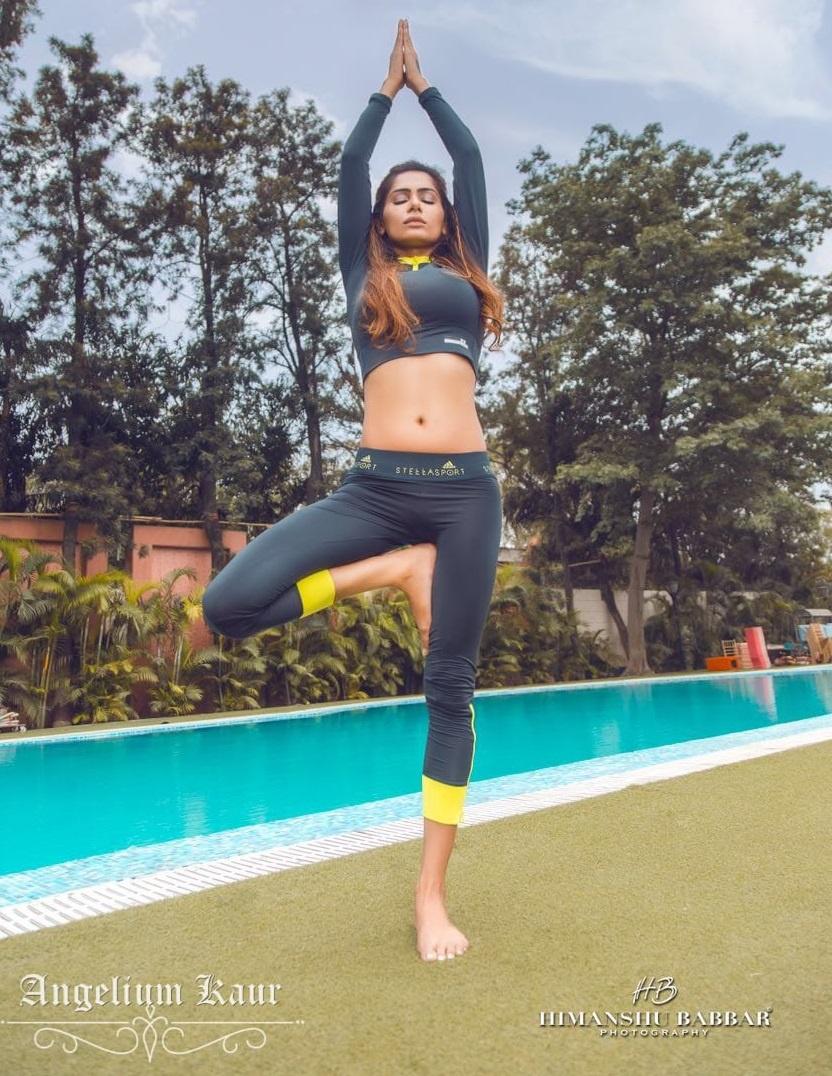 Angelium Kaur Yoga Pose