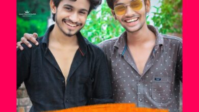 Photo of Ansh Pandit and Akash Chowdhary in web series The Prayag Raj