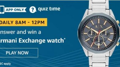 Armani Exchange Watch Quiz Answer