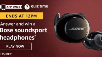 Photo of Amazon 09th Jun 2020 Quiz Answers : Play And Win Bose Soundsport Headphones