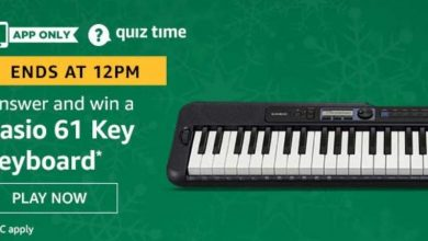 Photo of Amazon 01st May 2020 Quiz Answers: Play And Win Casio 61 Key Keyboard