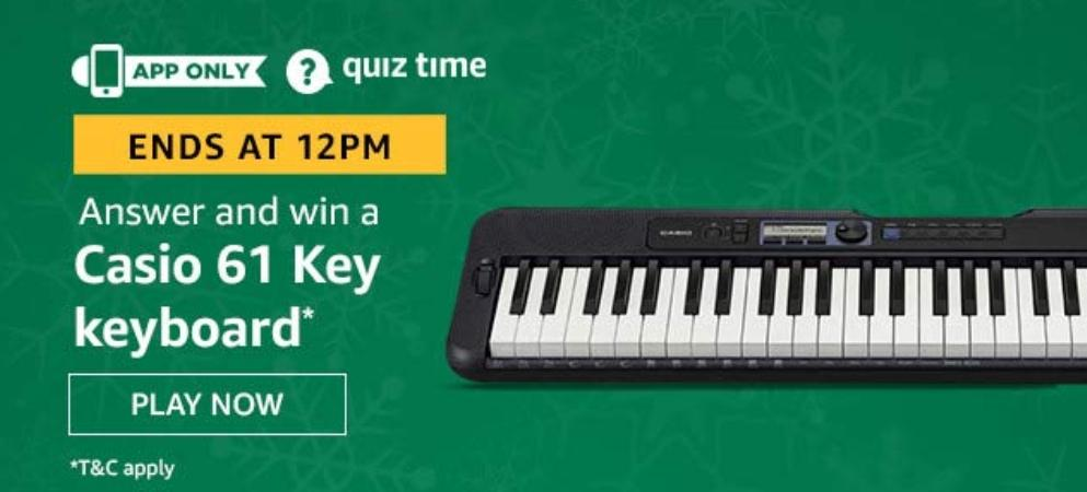 Casio 61 Key Keyboard Amazon Quiz Answers