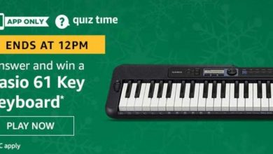 Photo of Amazon 21st Feb 2020 Quiz Answers: Play And Win Casio 61 Key Keywords