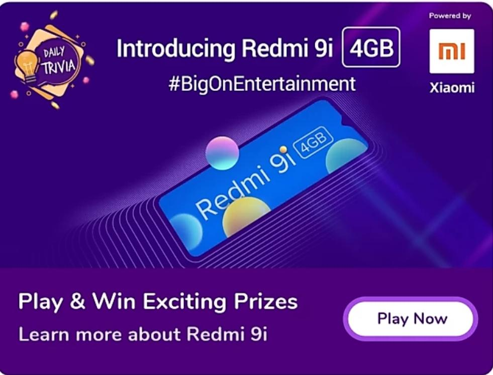 Daily Redmi 9i Trivia Quiz Answers