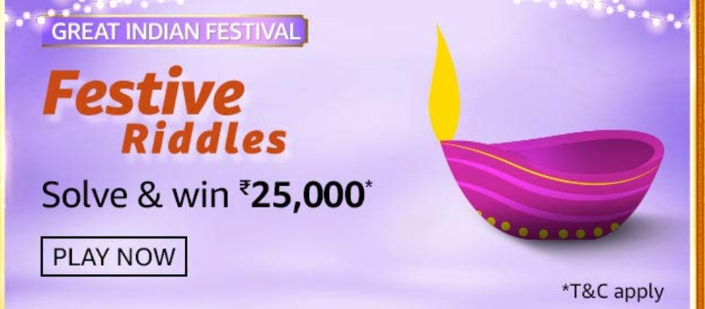 Amazon Great Indian Festival Festive Riddles Quiz Answers Answer Win Rs 25 000 Cash Prize Nagpur Oranges