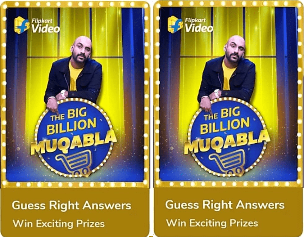 Flipkart The Big Muqabla Quiz Answers
