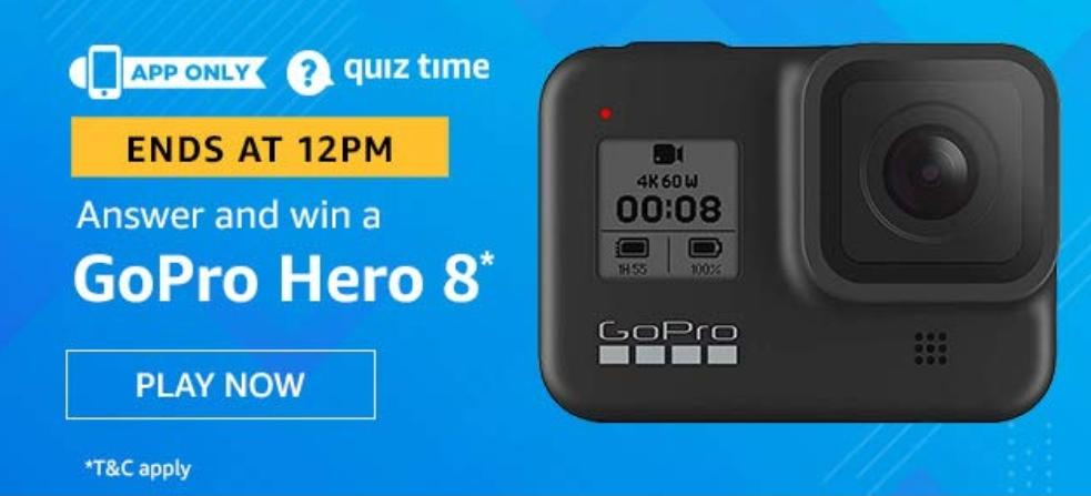 GoPro Hero 8 - Amazon Quiz Answer