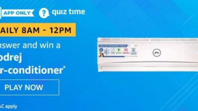 Photo of Amazon Quiz Answers For 1st Feb 2020: Play And Win Godrej Air-Conditioner