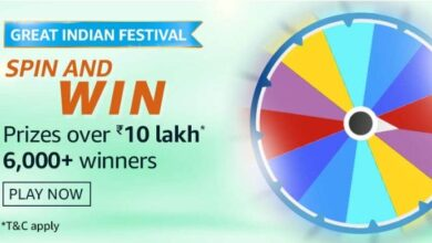 Photo of Amazon 9th Oct 2020 Spin And Win Quiz Answers: Play And Win Prize Worth Rs 10 Lakhs (5,000 Prizes)