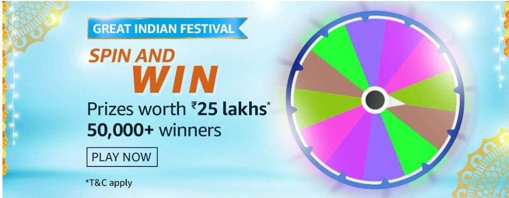 Great Indian Festival Spin And Win Quiz