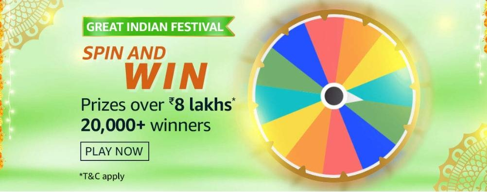 Great Indian Festival Spin And Win Quiz Answers