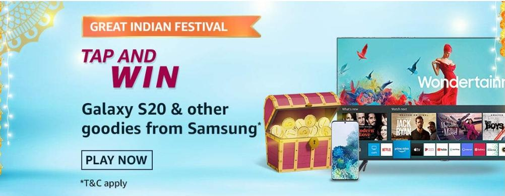 Amazon Great Indian Festival Quiz Answers 15 October