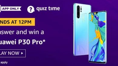 Photo of Amazon 19 Aug 2020 Quiz Answers : Play And Win Huawei P30 Pro Mobile