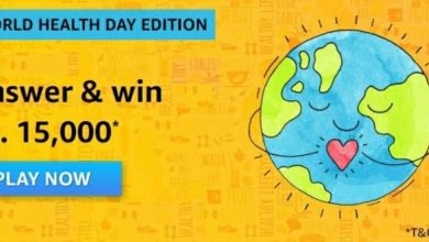 Amazon World Health Day Quiz