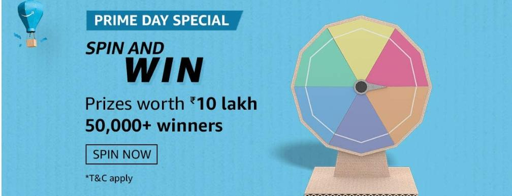 Prime Day Special Spin And Win