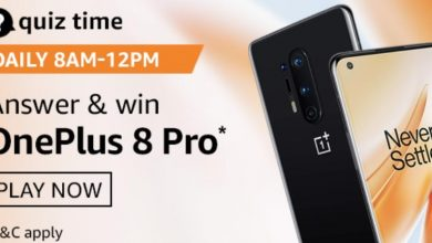 Photo of Amazon 06th Sep 2020 Quiz Answer: Play And Win OnePlus 8 Pro (1 Prize)