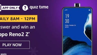 Photo of Amazon Quiz 9 February 2020 Answers: Oppo Reno 2 Z (1 Prize)