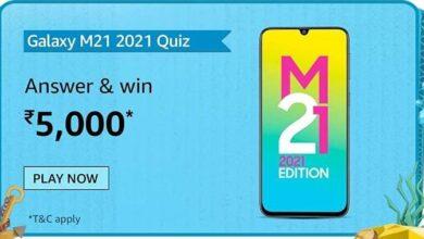 Samsung Galaxy M21 2021 Amazon Quiz