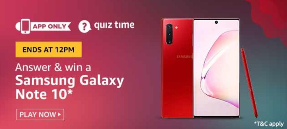 Amazon 24th Jun 2020 Quiz Answer Play And Win Samsung Galaxy Note 10 Nagpur Oranges