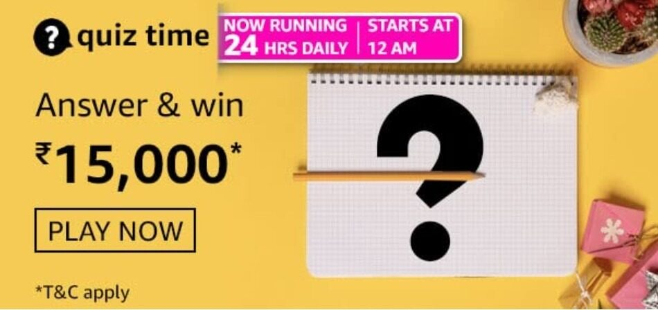 Amazon Daily Quiz Time Answers 27th August 2021