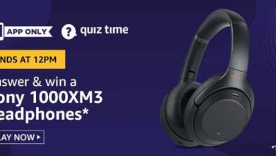 Photo of Amazon 14th Aug 2020 Quiz Answer: Play And Win Sony 1000XM3 Headphones