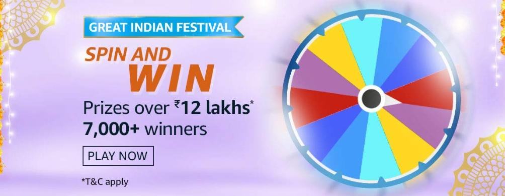 Spin And Win 12Lakh Rs