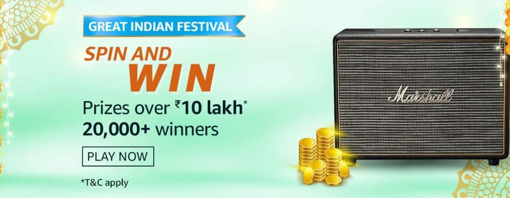Amazon 10th Oct 2020 Spin And Win Quiz Answers
