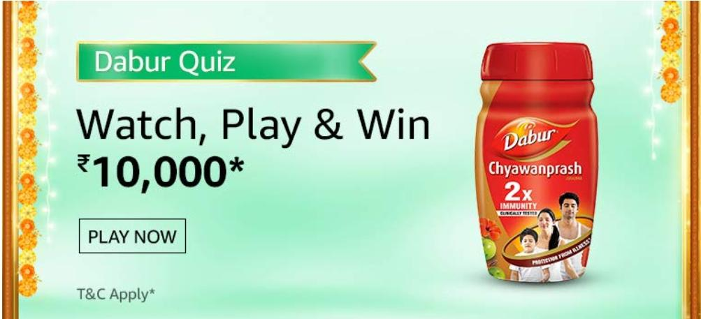 Amazon Dabur Chyavanprash Quiz Answers